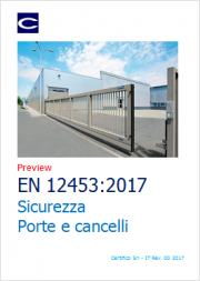 EN 12453:2017: Sicurezza dei cancelli industriali - Prove
