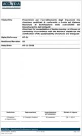 RT-31 Accredia | Sistema nazionale certificazione biocarburanti e bioliquidi