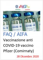 FAQVaccinazione anti COVID-19 con vaccino Pfizer AIFA (Comirnaty)