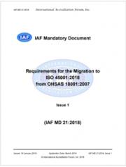 Requisiti migrazione a ISO 45001:2018 da OHSAS 18001:2007