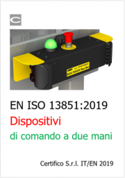 Dispositivi di comando a due mani: EN ISO 13851:2019