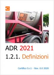 ADR 2021 | Definizioni (sezione 1.2.1)