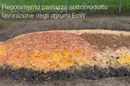 Regolamento pastazzo sottoprodotto lavorazione degli agrumi EoW