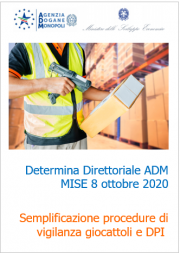 Determina Direttoriale ADM MISE 8 ottobre 2020