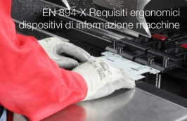 EN 894-X Requisiti ergonomici dispositivi di informazione macchine