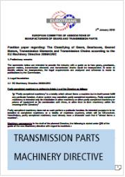 Position Paper Transmission Parts Machinery Directive 2006/42/EC Eurotrans