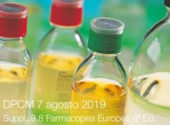 DPCM 7 agosto 2019 | Suppl. 9.8 Farmacopea Europea 9ª Ed.