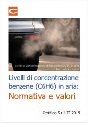 Livelli di concentrazione di benzene (C6H6) in aria: Normativa e Valori