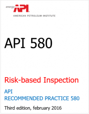 API 580 - Risk Based Inspection