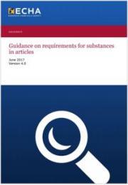 Linee guida requisiti sostanze negli articoli - ECHA