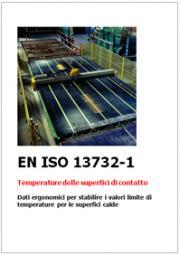 EN ISO 13732-1 Temperature delle superfici di contatto calde - Dati ergonomici