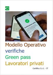Modello operativo organizzazione verifiche Green pass Lavoratori privati