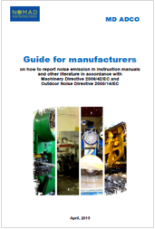 Guide for manufacturers noise emission machinery