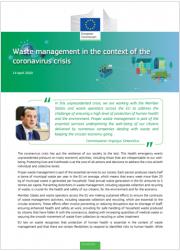 Coronavirus: linee guida dalla CE sulla gestione dei rifiuti