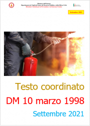 Testo coordinato VVF del DM 10 marzo 1998 - Settembre 2021