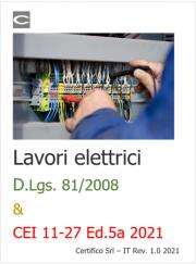 Lavori elettrici: D.Lgs. 81/2008 e norma CEI 11-27