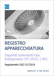 Gas Floururati: Registro dell'Apparecchiatura