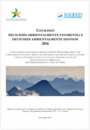 Catalogo sussidi ambientalmente dannosi e favorevoli