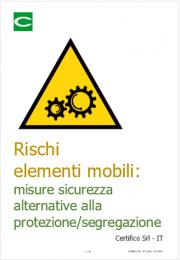 Rischi elementi mobili: misure sicurezza alternative alla protezione/segregazione