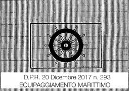 D.P.R. 20 dicembre 2017 n. 239   Equipaggiamento marittimo