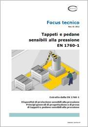 Focus Tappeti e pedane sensibili alla pressione EN 1760-1