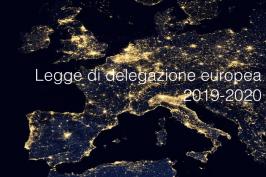 Legge di delegazione europea 2019-2020