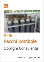 Pacchi bombole ADR: Obblighi Consulente ADR