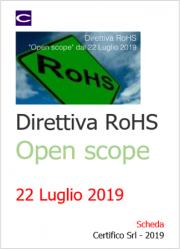 Direttiva RoHS: Open Scope dal 22 luglio 2019