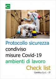 Protocollo sicurezza condiviso misure Covid-19 ambienti di lavoro | Check list