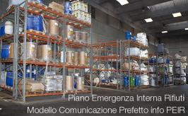 PEIR: Modello Comunicazione Prefetto info Piano Emergenza Interna Rifiuti