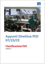 Appunti Direttiva PED 97/23/CE: Introduzione alla classificazione attrezzatura a pressione
