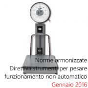 Norme armonizzate Direttiva Strumenti pesare non automatici Gennaio 2016