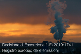 Decisione di Esecuzione (UE) 2019/1741 | registro europeo emissioni