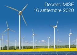 Decreto MISE 16 settembre 2020