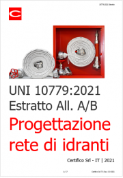 UNI 10779:2021 | Progettazione rete di idranti