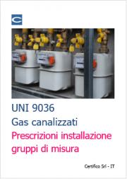 UNI 9036: Prescrizioni installazione gruppi misura gas