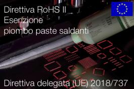 Direttiva delegata (UE) 2018/737   Modifica All. III Direttiva RoHS II