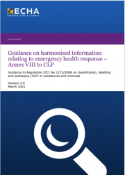 Guidance ECHA Annex VIII to CLP | Version 4.0 March 2021