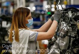 Covid-19 | Contagi sul lavoro denunciati all'INAIL: Schede regionali 30 Settembre 2020