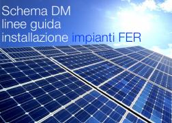 Schema DM linee guida installazione di impianti FER