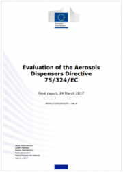 Evaluation of the Aerosols Dispensers Directive 75/324/EC