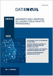 Dati INAIL 1/2020 - Andamento infortuni sul lavoro e malattie professionali