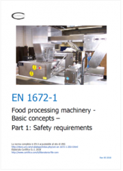 EN 1672-1 Food processing machinery Testo dei requisiti