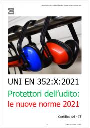 UNI EN 352:X:2021 Protettori dell'udito