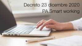 Decreto 23 dicembre 2020   PA Smart working