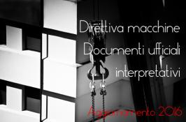 Documenti ufficiali sull'applicazione della Direttiva macchine 2006/42/CE