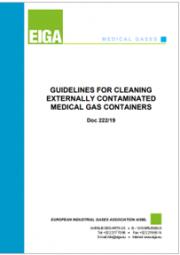Linee guida per la pulizia di contenitori di gas medicali