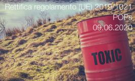 Rettifica del regolamento (UE) 2019/1021 | 09.06.2020