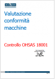 Valutazione conformità macchine: Ispezione OHSAS 18001