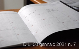 Decreto-Legge 30 gennaio 2021 n. 7
